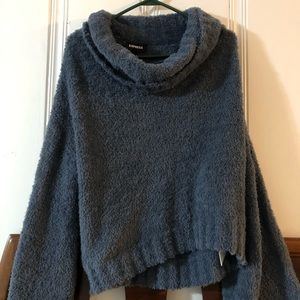 Blue express bell sleeve sweater